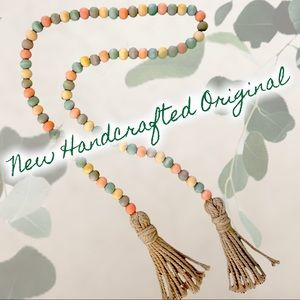 New Fall Beaded Garland Hand Dyed & Strung B006